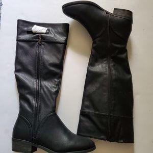 Dream Paris Black knee high Boots Sz 7.5